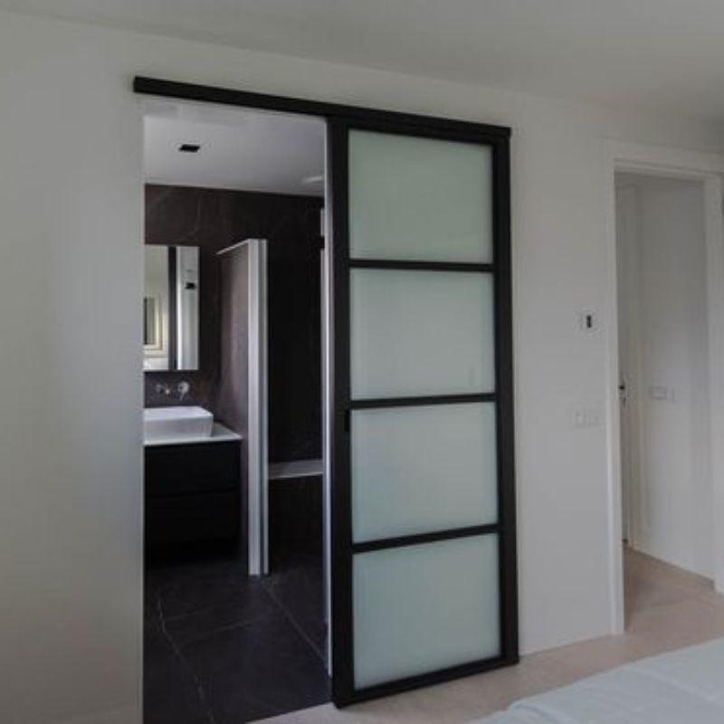 schuifdeur voor wand badkamer slaapkamer