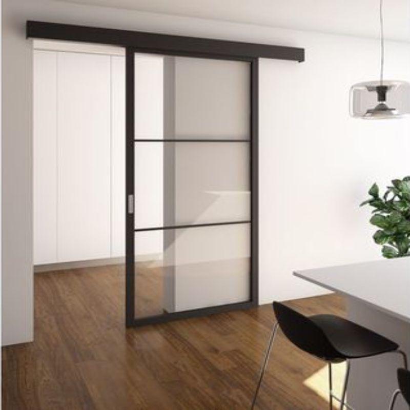 schuifdeur voor wand modern glas stijlvol