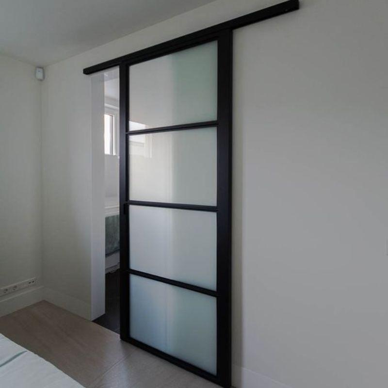 schuifdeur voor wand modern melkglas