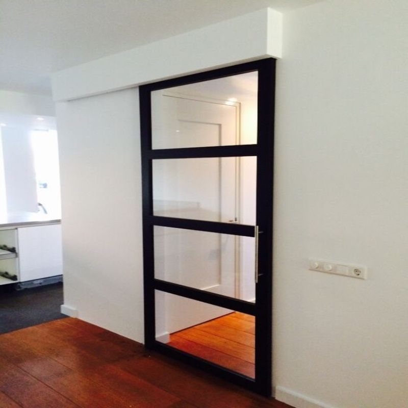 schuifdeur woonkamer gang modern voor wand
