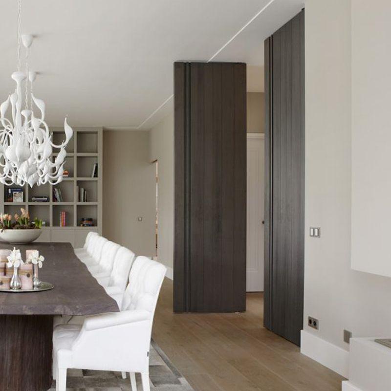 Grote deur woonkamer bruinedeur taatsdeursysteem