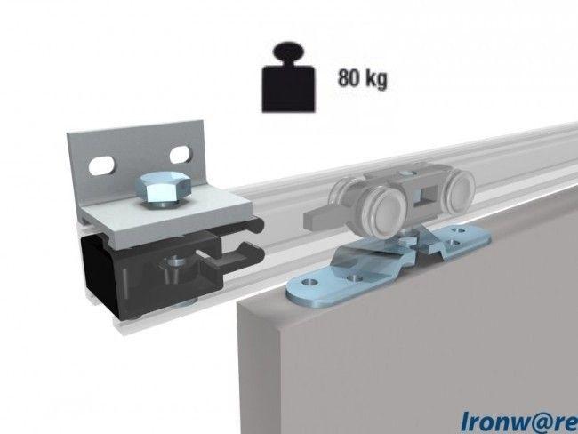 Compleet omhangsysteem schuifdeur - 40/80 kg max